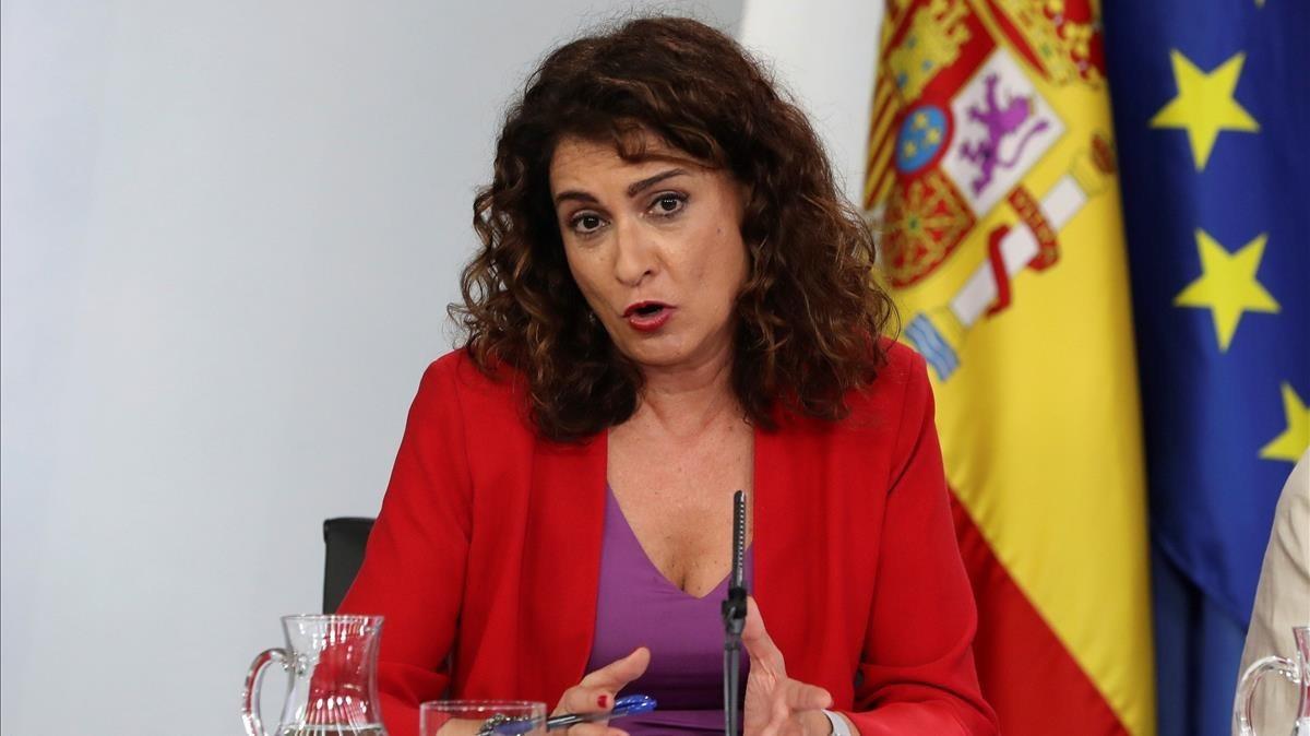 La ministra de Hacienda, María Jesús Montero, en julio pasado.