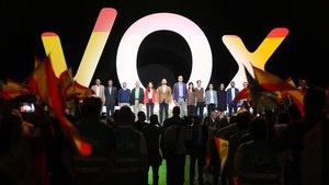 Multitudinario acto de Vox en el pabellón de Vistalegre, el pasado 7 de octubre.
