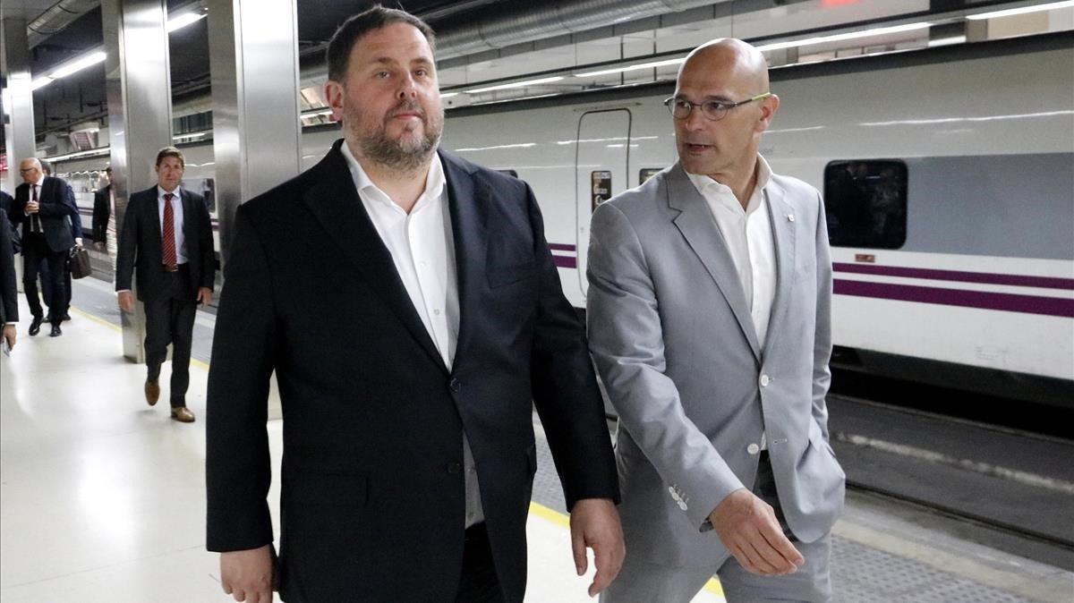 Oriol Junqueras y Raül Romeva, en una imagen de archivo.