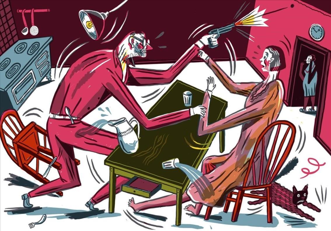 Página del cómic Fallada, de Jakob Hinrichs.