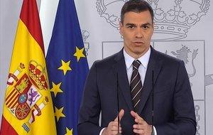 Pedro Sánchez, en la rueda de prensa del sábado 23 de mayo.