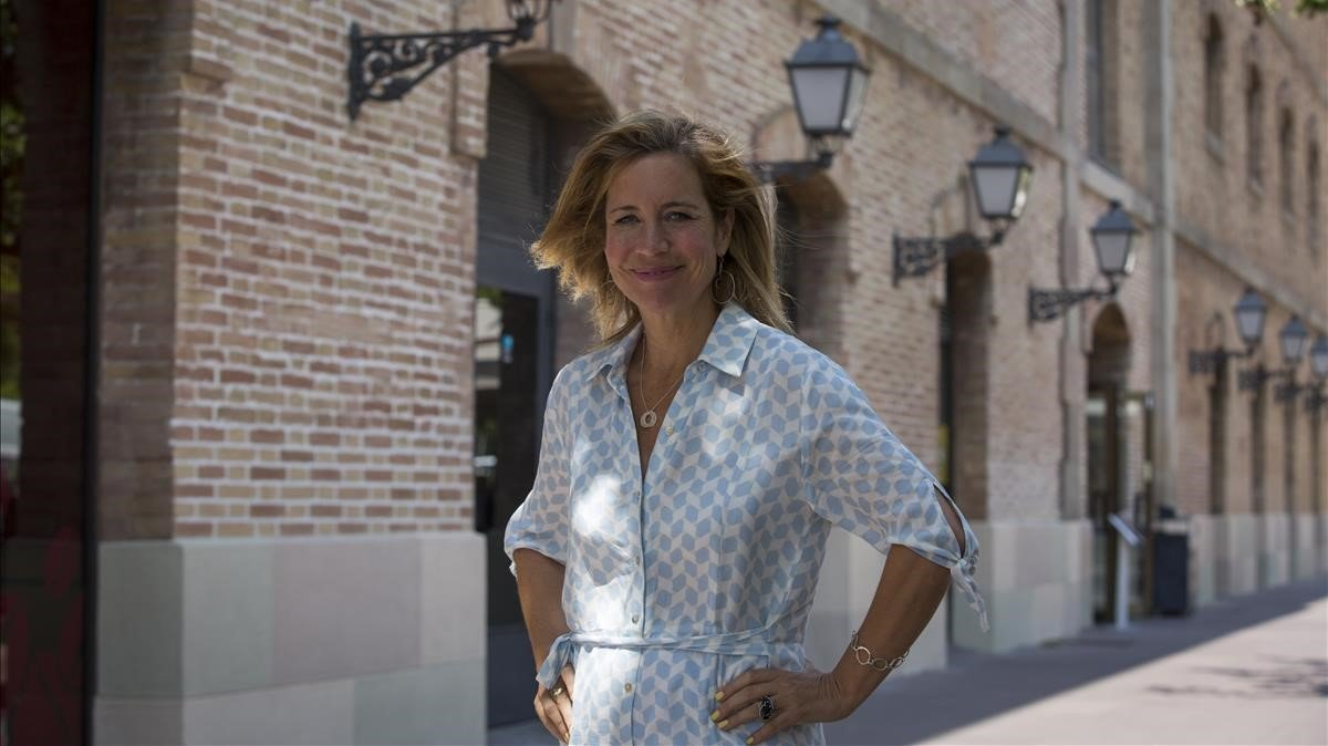 La periodista Carrie Frais, en Barcelona