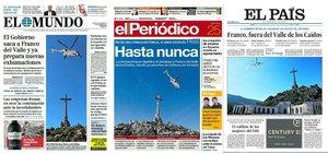 Prensa de hoy: Las portadas de los periódicos del viernes 25 de octubre del 2019