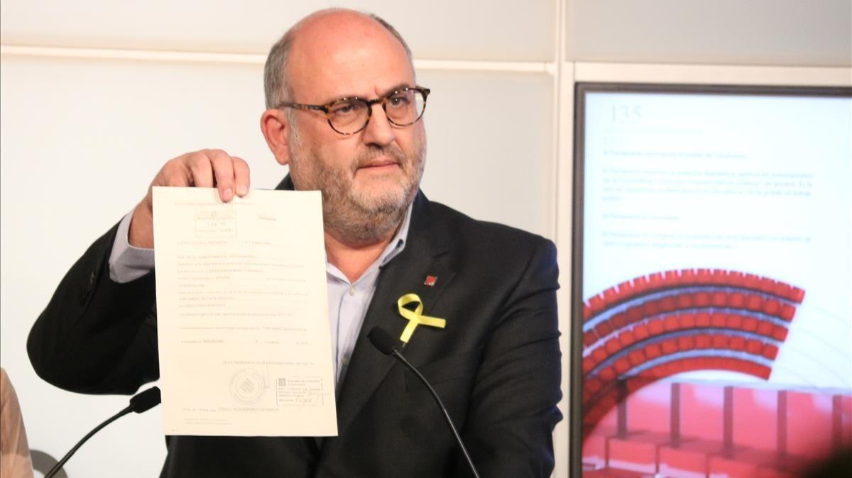 El portavoz de JxCat, Eduard Pujol.
