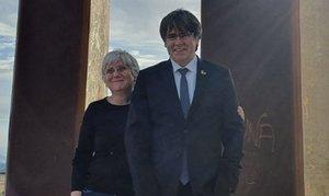 Puigdemont y Ponsatí, en Perpinyà.