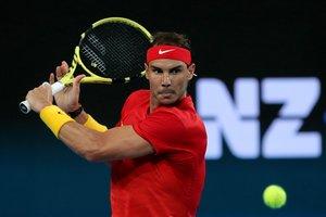 Rafa Nadal, en el ATP Cup.