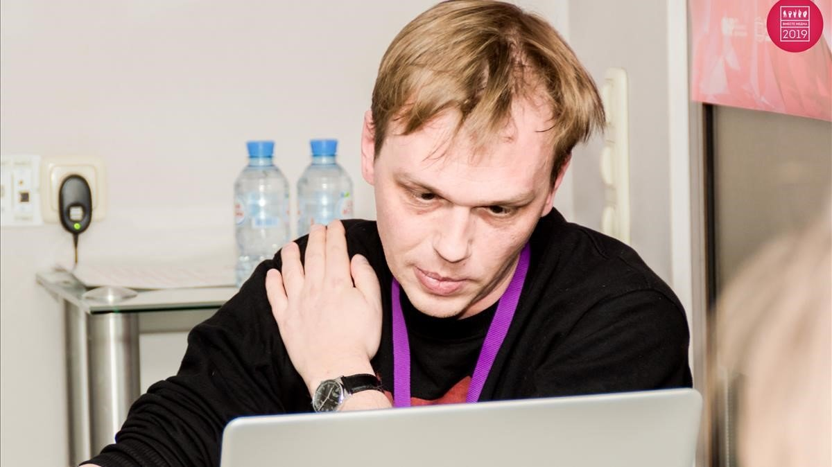 El reportero ruso Iván Golúnov.