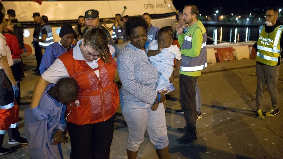 Rescate de inmigrantes en Motril, Granada.