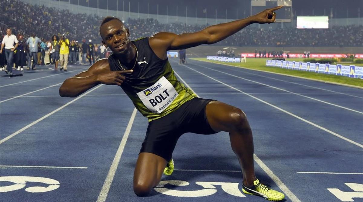 Usain Bolt se despide de Jamaica con un show entre amigos