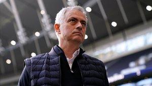 Mourinho, en el último partido del Tottenham.