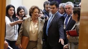 La exalcaldesa y senadora, Rita Barbera, este martes en el Senado.