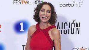 Ana Belén, en la presentación en Vitoria de la serie de TVE 'Traición'.