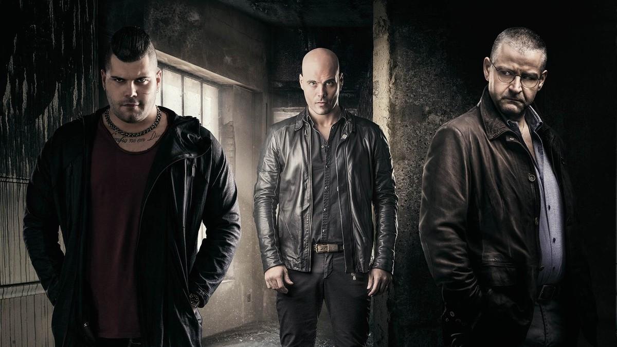 Los actoresSalvatore Esposito, Marco DAmore y Fortunato Cerlino, protagonistas principales de la serie italiana Gomorra.