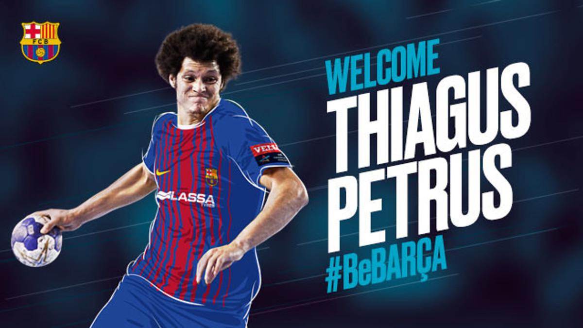 Thiagus Petrus, nuevo jugador del Barcelona de balonmano