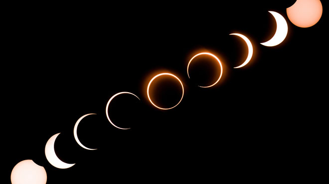 Eclipse anular de sol visto desde Filipinas.