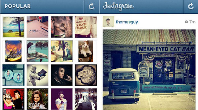 Una captura de la xarxa social Instagram.