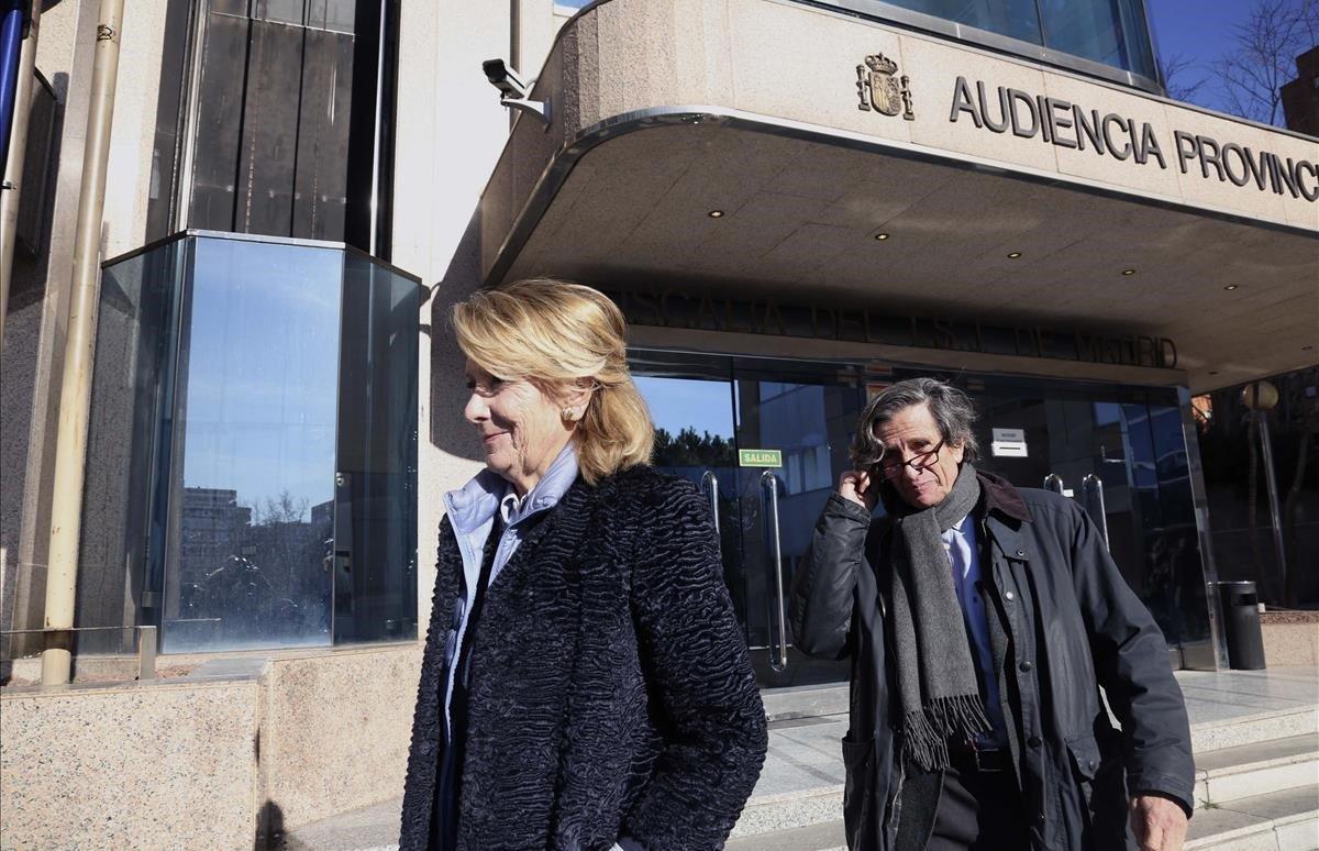 Esperanza Aguirre nega saber res de l'espionatge als seus companys