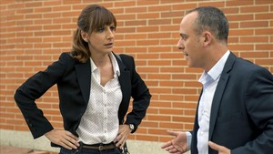 Malena Alterio y Javier Gutiérrez, en Vergüenza.