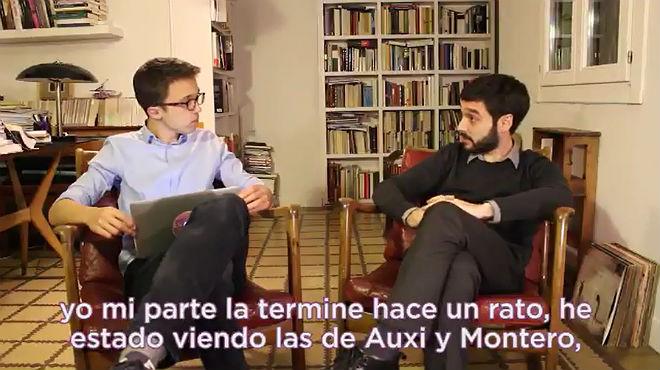 Vídeo dErrejón presentant el seu document per al congrés de Podem.