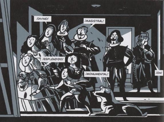 Viñeta de Las Meninas, Mejor obra de autor español, de Santiago García y Javier Olivares.