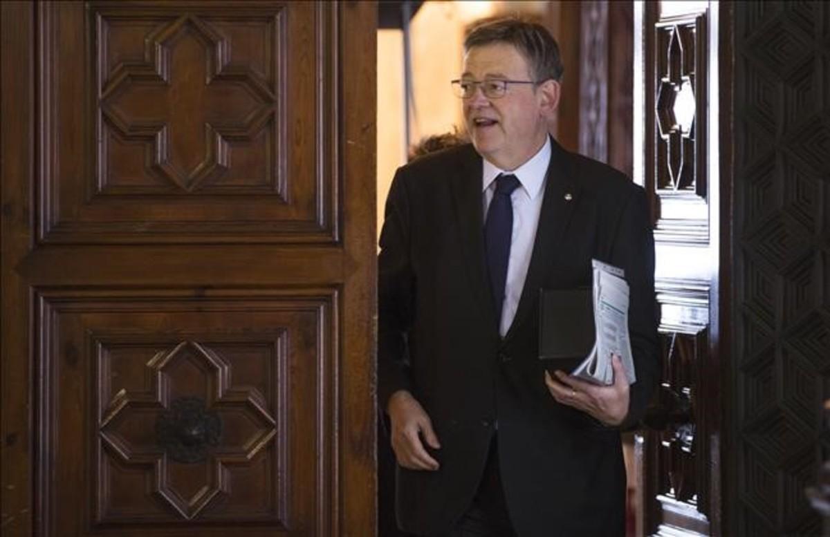 El presidente valenciano, Ximo Puig, este lunes.