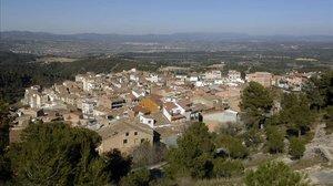 Imagen del municipio de Rasquera donde se sintió levemente el terremoto.
