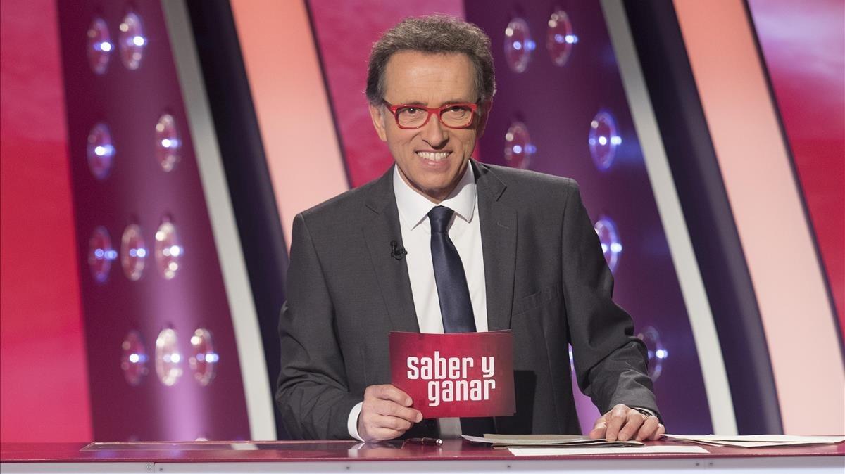 Jordi Hurtado, en el programa del 20º aniversario de 'Saber y ganar', en el 2017.