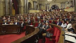 El pleno del Parlament de Catalunya, en una sesión del pasado marzo.