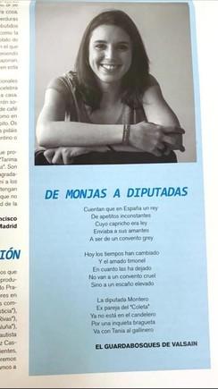 Un poema masclista contra Irene Montero indigna Podem