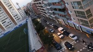 La calle de Secretari Coloma, en Gràcia; en adelante volverá a llamarse Pau Alsina.