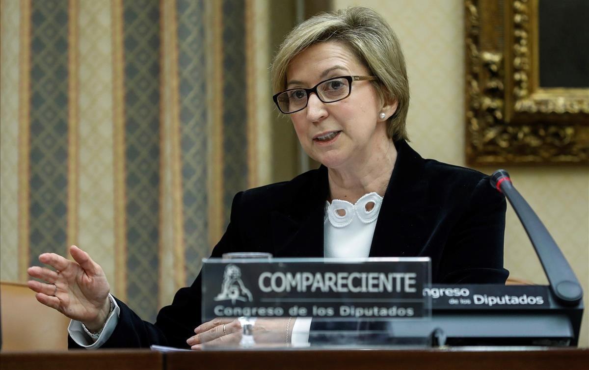 La exconsejera de Castilla-La Mancha, María Luz Araujo, en su comparecencia en el Congreso.