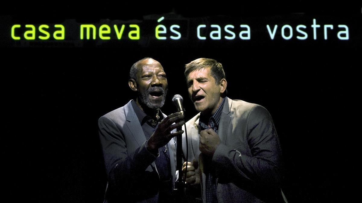 Valerio Ndongo y Enric Molina, en el Espai Lliure.