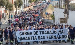 Protesta de los trabajadores de Navantia.