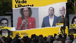 """Junqueras afirma que el PSOE """"no es de fiar"""" en el cierre de campaña de ERC"""