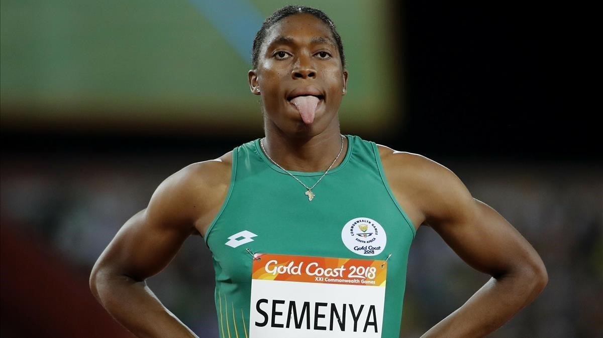 La velocista Caster Semenya, en los Juegos de la Commonwealth 2018.