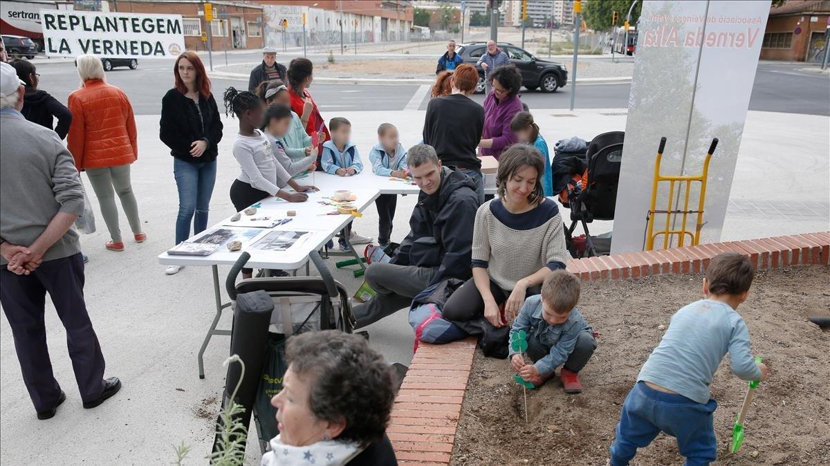 Jornada de protesta en la Verneda, el pasado jueves.