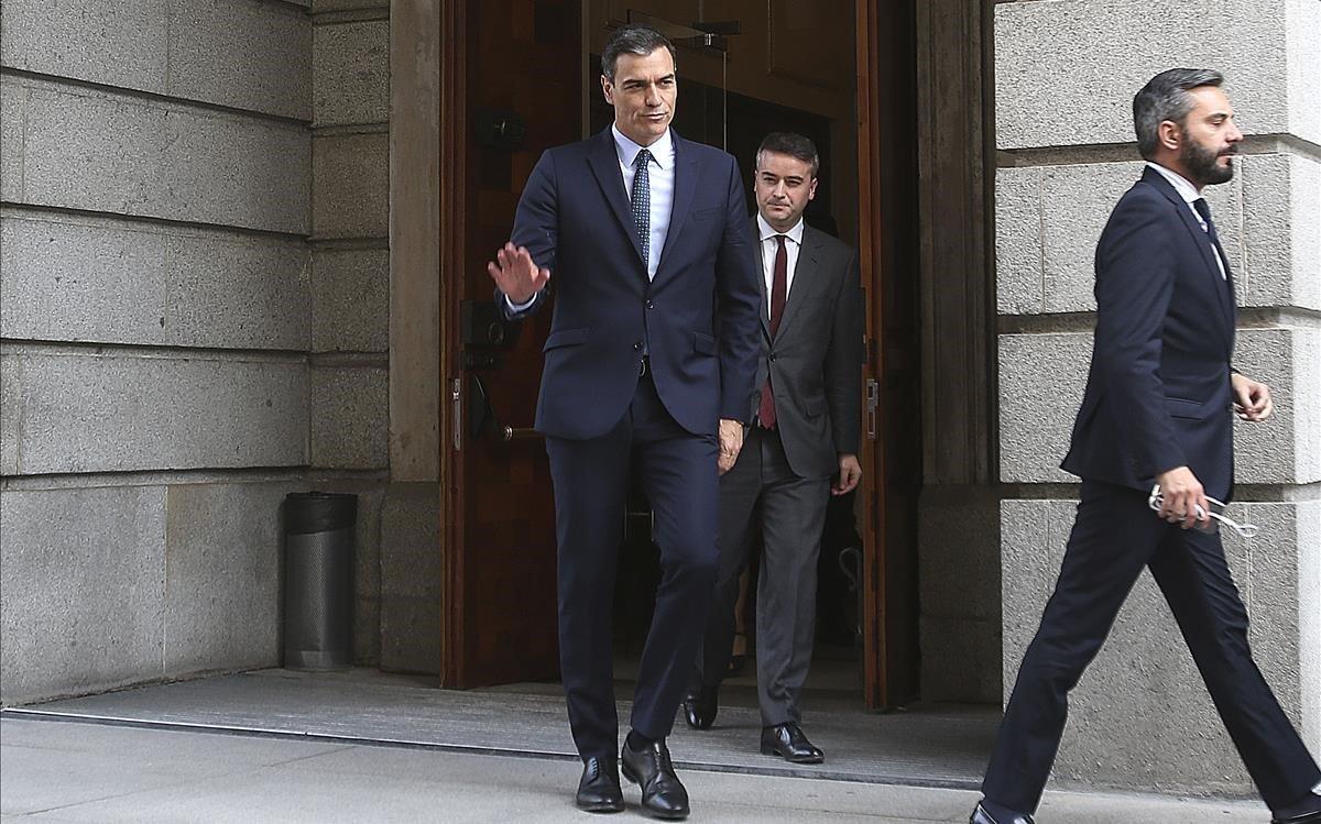 El presidente en funciones, Pedro Sánchez.