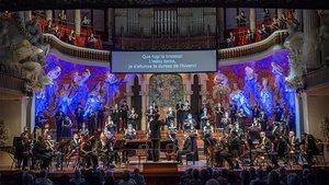 La Orquestra Simfònica del Vallès en el Palau de la Música, este sábado.