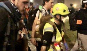 Captura de un vídeo que graba el traslado del herido.