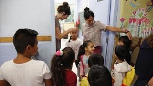 Vuelta al colegio tras las vacaciones estivales. En la imagen la escuela El Ti.ler de Barcelona.
