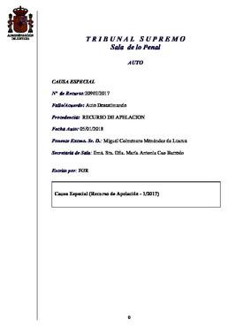 La resolución del TS sobre la excarcelación de Junqueras.