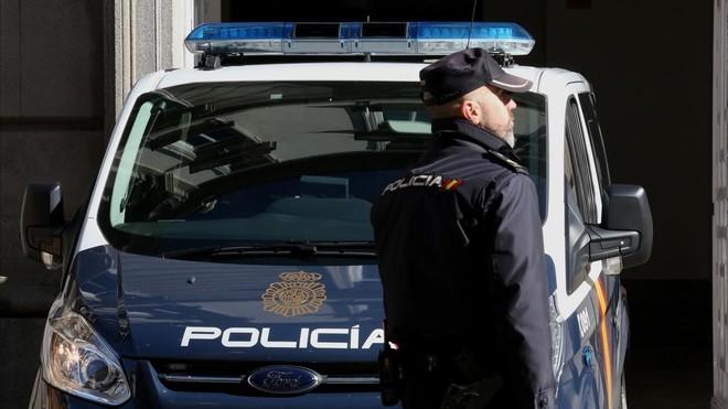 El furgón que traslada a Jordi Sànchez, a su llegada al Tribunal Supremo.