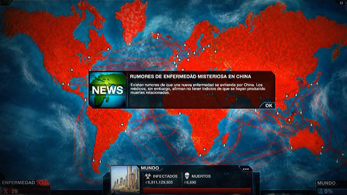 Plague Inc, el juego 'on line' para crear el coronavirus