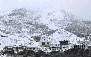 La estación de esquí de Pajares enAsturias.