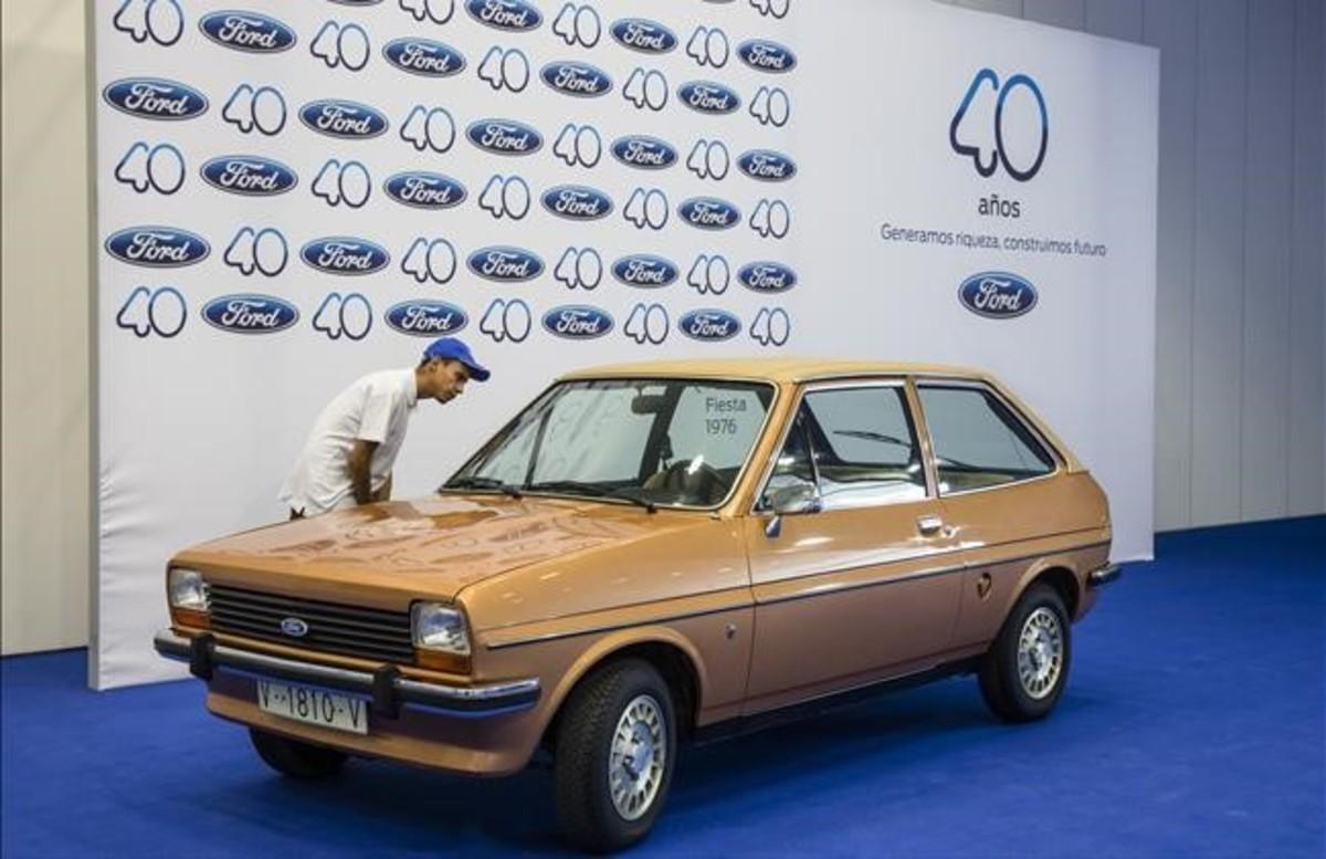 Primer Ford Fiesta fabricado en la factoría de Almussafes.