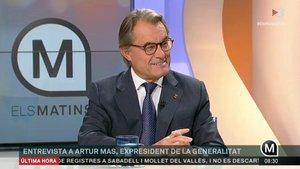 Artur Mas, en la entrevista en 'Els matins de TV-3', este lunes.