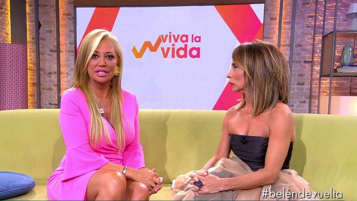 Belén Esteban y María Patiño en el pató de 'Viva la vida' durante la nueva entrega de 'Sábado Deluxe'.