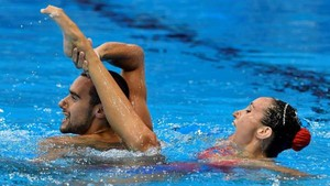 Berta Ferreras y Pau Ribes, bronce en el dúo mixto de Natación Artística