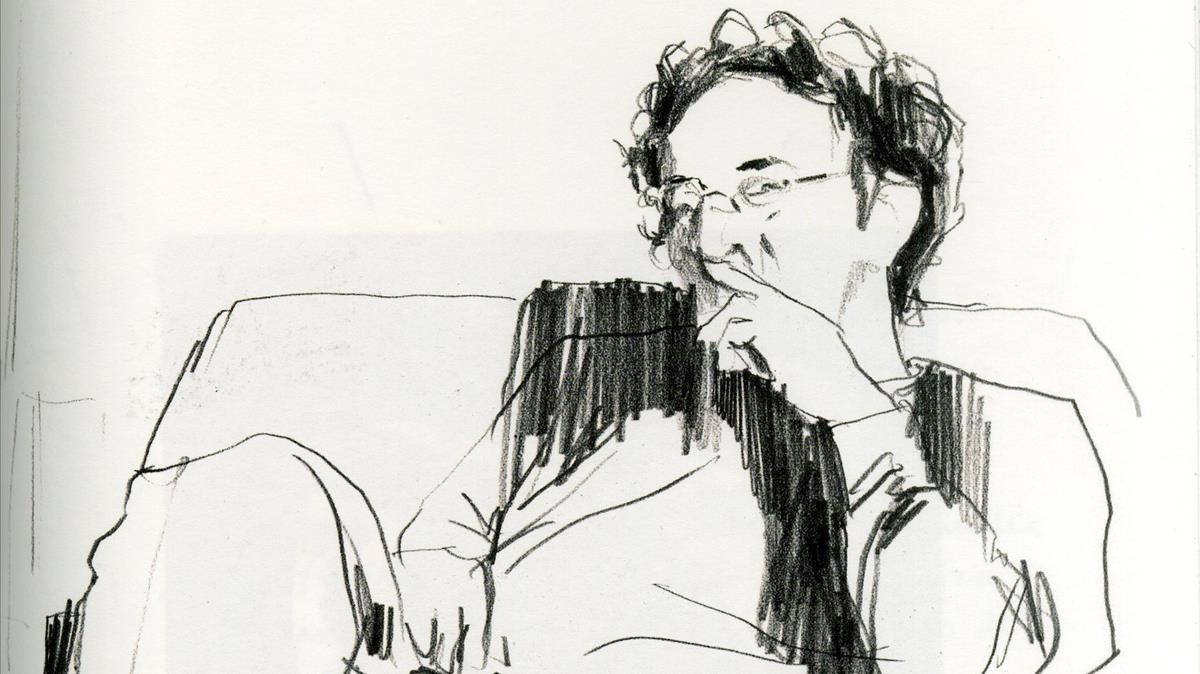 Bolaño visto por los pinceles de Paula Bonet en Por el olvido, libro conjunto con Aitor Saraiba.