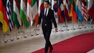 El canciller austriaco,Sebastian Kurz, el pasado 19 de octubre en la cumbre Europa-Asia celebrada en Bruselas.